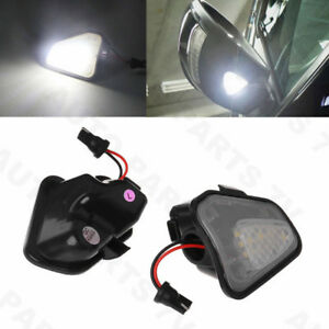 Pair Led Side Mirror Under Puddle Lights Canbus For Vw Passat Eos Scirocco Cc
