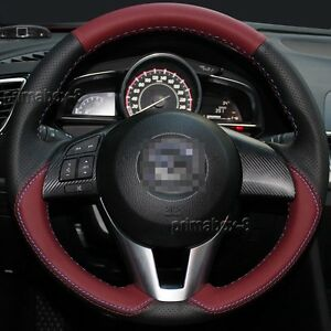 Stylish Leather Steering Wheel Cover Wrap For Mazda 3 M3 M6 Cx 3 Cx 5 Cx5 13 16