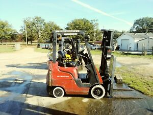 3000lb Mitsubishi Forklift Just Cleaned And Serviced Low Hours