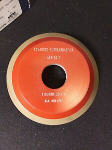 New Advanced Superabrasives Cupped Diamond Grinding Wheel 125x1x1 1 4 12v9