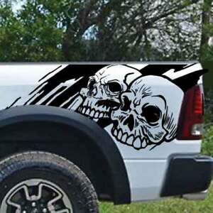 Dodge Ram Chevy Ford Grunge Skull Truck Graphic Decal Vinyl Bed Tailgate Side