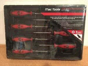 Mac Tools 7 Piece 6 Point Tamper Proof Star Driver Set Sdbm76pt