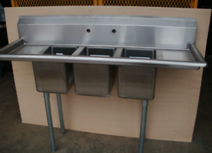Food Trailer 3 Compartment Bowl Sink Restaurant Bakery
