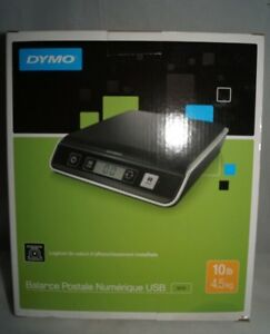 Dymo By Pelouze M10 Digital Usb Postal Scale 10 Lb Black silver 1772057