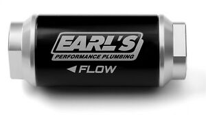 Earls Plumbing 230606erl Billet Aluminum In line Fuel Filter