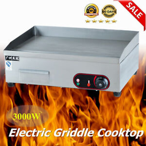 3000w Commercial Thermomate Electric Griddle Grill Bbq Plate Countertop