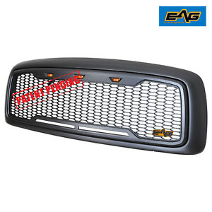 Full Replacement Led Grille Honeycomb Grill For 02 05 Dodge Ram 1500 Heavy Duty