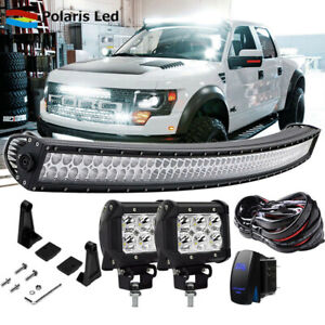 54 312w Led Curved Light Bar Combo Offroad For Suv Tractor Ute Atv Truck