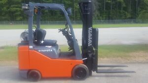 2015 Toyota 8fgcsu20 Forklift Truck 189 3 way W side Shift New Paint