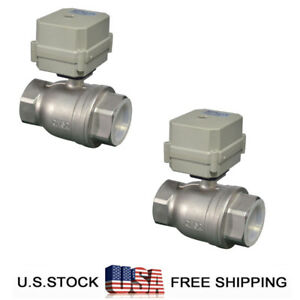 Pack Of 2 npt 2 Motorized Ball Valve Cr2 01 dc 24v Electrical Ball Valve ss304