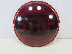 Vintage 7 Yankee Red Glass Stop Lens