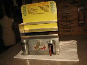 Rare Vintage Heinz Soup Commercial Restaurant Soup Warmer Display Case With Sign