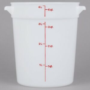 Cambro rubb Set Of Multi sized Food Storage Containers And Lids 4 6 And 8 Qt