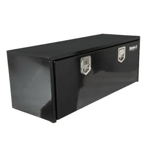 Buyers Products 1702115 18x18x60 Black Steel Underbody Truck Box W paddle Latch