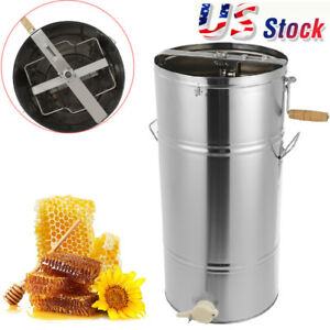 Honey Extractor Separator Stainles Steel Honeycomb Spinner Drum Manual Equipment