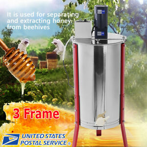 Profession Electric 3 Frame Stainless Steel Honey Extractor Beekeeping Equipment