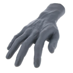 Soft Pvc High Realistic Male Mannequin Hand For Gloves Jewelry Watch Display