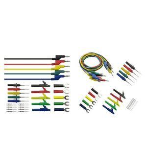 2piece 4mm Banana To Banana Test Lead Kit For Multimeter With Alligator Clip