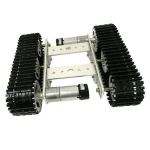 T100 Smart Robot Tank Car Chassis Kit Rubber Track Crawler For Arduino Motor