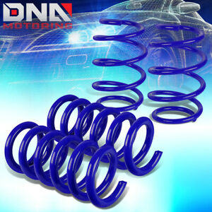 For 2015 2018 Ford Mustang Blue 1 Drop Front Rear Suspension Lowering Spring