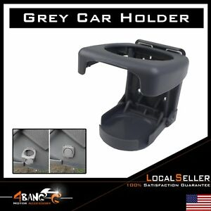 Vehicle Truck Auto Folding Beverage Drink Bottle Cup Holder Stand Mount Gray