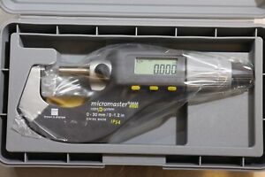Brown Sharpe Tesa Lcd Digital Outside Micrometer 0 30mm 0 1 2 Rs 232 Output
