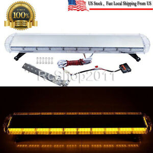 47 Amber 88led Emergency Warning Beacon Tow Truck Strobe Light Bar Roof Top Cool