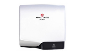 New World Dryer Slimdri White Surface Mounted Automatic Hand Dryer Model L 974a