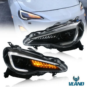 For Subaru Brz Zc6 Toyota 86 Scion Fr S Headlights Drl Projector Head Lamps