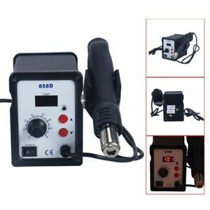 2 In 1 Hot Air Rework Station Soldering Iron W 3 Nozzles Led Professional 858d