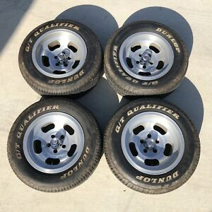 Staggered Ansen Sprint Wheels 5x4 5 15x7 15x8 5 Vintage With Caps And Tires