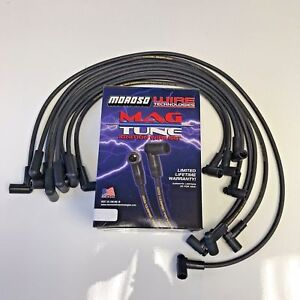 Spark Plug Wires 8mm Blk Hei Distributors 90 Degree Moroso Over Covers Sbc
