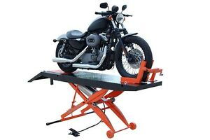 New Titan 1 000 Lbs Motorcycle Lift With Front Wheel Vise And Front Extension