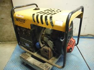 Winco Hp9500he q Portable 8500 Watt Electric Start 18 Hp Gas Generator W Honda