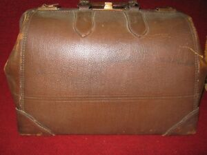 Vintage Leather Travel Bag Doctor S Bag Henry Likly Rochester Ny