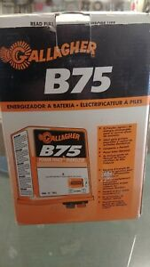 B75 Gallagher Battery Powered Energizer Fence Charger