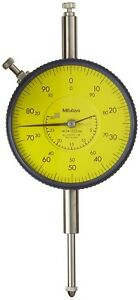 New Mitutoyo Large Face Metric Dial Indicator 0 30mm 0 01mm 0 100 Read Flat Back