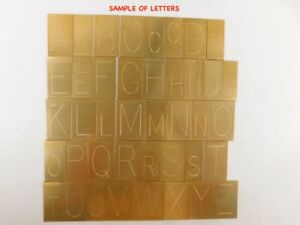 New Hermes Brass Engraving Font 35 022 Single Line Condensed Block 216 Pieces