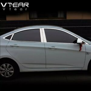 For Hyundai Solaris 2010 2011 2012 2013 2014 Chrome Window Trim Accessories