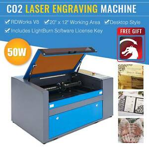 Upgraded 50w 110v Co2 20 12 Laser Engraving Cutting Machine Engraver Cutter