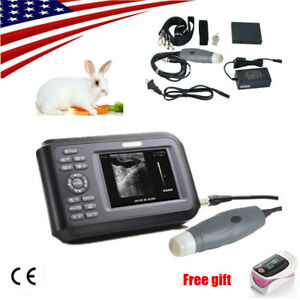 Portable Vet Veterinary Ultrasound Scanner For Cat dog 3 5mhz Convex Probe usa