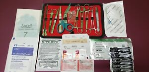 32 pcs Student Suture Surgical minor Surgery Kit Military Style first Aid Kit