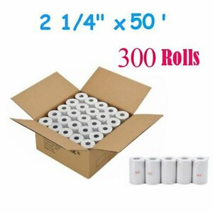 300 Rolls Case 2 1 4 X 50 Thermal Paper Cash Register Pos Credit Card Receipt