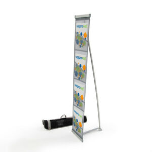 4 5 Tall Grey 4 Pocket Literature Display Stand Trade Show Catalog Rack