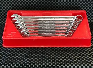 Snap on Flank Drive Combo 7pc Wrench Set Sae Soex707 Made In Usa