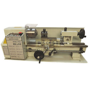 Digitial Precision Metal Mini Lathe 7 X 12 Machine Variable Speed 400w 2500rpm