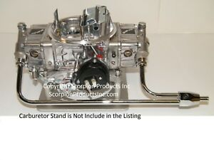 Holley Quickfuel 4 Barrell 650cfm Carburetor Electric Choke With Fuel Line gauge