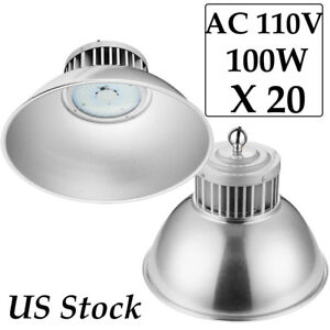 20x 100watt Led High Bay Light Warehouse Lighting Indoor Industrial Area Fixture