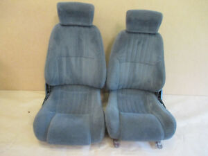 97 99 Firebird Trans Am Medium Gray Cloth Seat Seats Set 1003 1