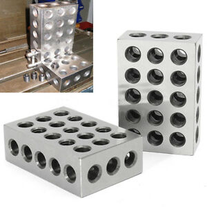1 Set 1 2 3 Blocks 0 0001 Precision Matched Machinist 123 Milling Tool 23 Holes